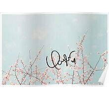 Swift's signature (flowers) Poster