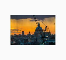 Sunset over St Paul's Cathedral with cranes Unisex T-Shirt