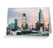 City of London Evening Skyline Greeting Card