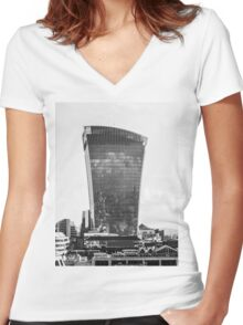 The Walkie Talkie Building, London Women's Fitted V-Neck T-Shirt