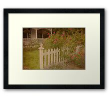 House with the white picket fence # 3 Framed Print
