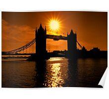 Sunrise Over Tower Bridge Poster