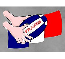 France Rugby Ball Flag Photographic Print