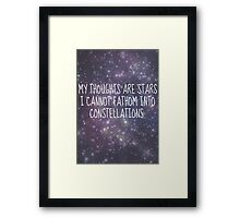 """My thoughts are stars..."" - TFiOS Framed Print"