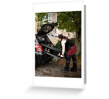 Economy funeral? Greeting Card