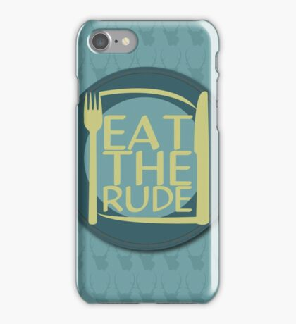 Eat The Rude (Green) iPhone Case/Skin