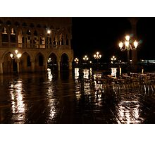 Venice at Night 2 Photographic Print
