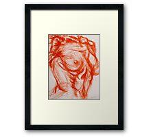 Torso - Female: Figure Study Framed Print