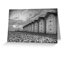 Eastbourne Beach Huts Greeting Card