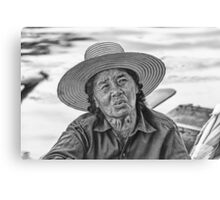 Thai Old Woman Canvas Print