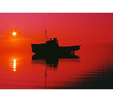 Cape Islander fishing boat at sunrise Photographic Print