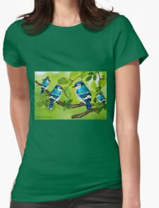 Blue jays (3560 views) Womens Fitted T-Shirt