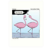 Flamingo Yoga Art Print