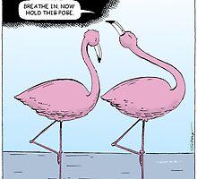 Flamingo Yoga by earyugo