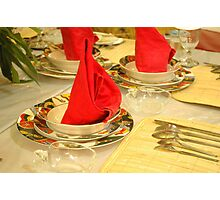 dinner table Photographic Print