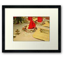 dinner table Framed Print