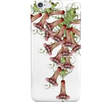 Red trumpet flowers iPhone Case/Skin
