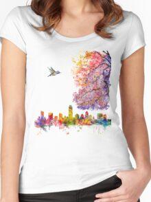 Austin Texas Skyline Women's Fitted Scoop T-Shirt