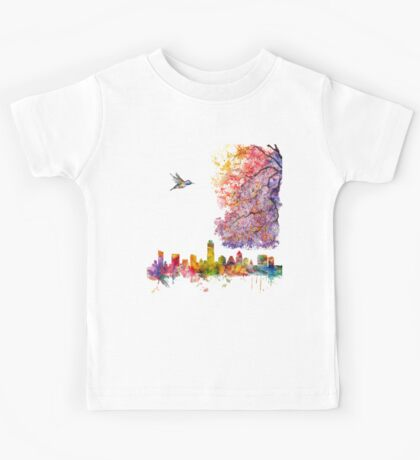 Austin Texas Skyline Kids Tee