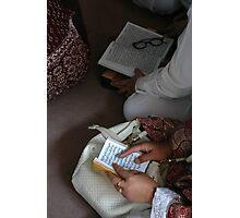 reading quran Photographic Print