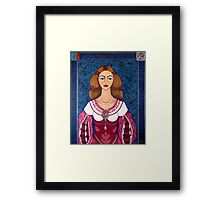 Ines de Castro - The love crowned Framed Print