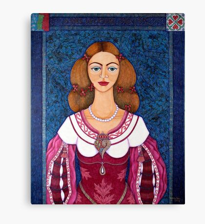 Ines de Castro - The love crowned Canvas Print