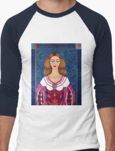 Ines de Castro - The love crowned Men's Baseball ¾ T-Shirt