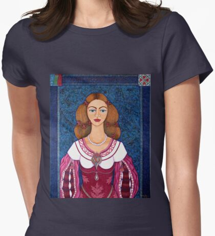 Ines de Castro - The love crowned Womens Fitted T-Shirt