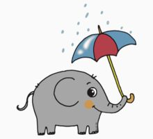 Baby elephant with an umbrella Kids Clothes