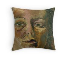 Portrait of a Woman in the Dark Throw Pillow