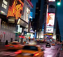 Warp Speed Taxis - Times Square by Nigel Johnson