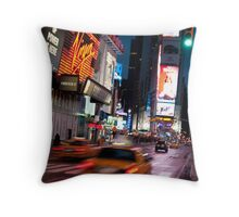 Warp Speed Taxis - Times Square Throw Pillow