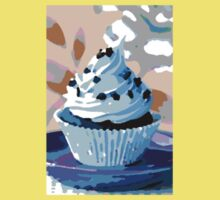 Chocolate Cupcakes with Blue Buttercream One Piece - Short Sleeve