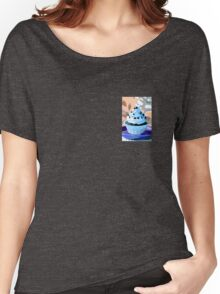 Chocolate Cupcakes with Blue Buttercream Women's Relaxed Fit T-Shirt