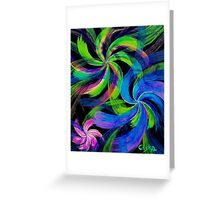 Coloured swirls Greeting Card