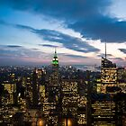 Sunset over Manhattan by Nigel Johnson