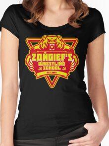 the russian bear wrestling school Women's Fitted Scoop T-Shirt