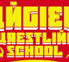 the russian bear wrestling school Sticker