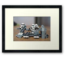 Troop Trouble Framed Print