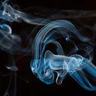 Alien Scuba - Smoke Art by Nigel Johnson