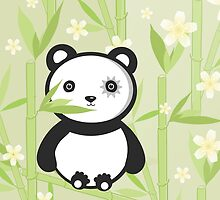 Cute Emo Panda Illustration by EveStock
