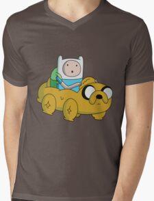 Jake Car Mens V-Neck T-Shirt