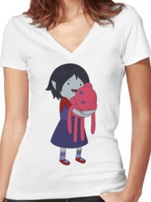 Marceline and Hambo Women's Fitted V-Neck T-Shirt