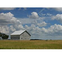 Clear Skys Photographic Print