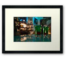 Absinth shots Framed Print