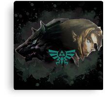 A Hylian and a Wolf Canvas Print