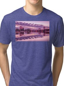 The Lights Of The Evening Lake Tri-blend T-Shirt