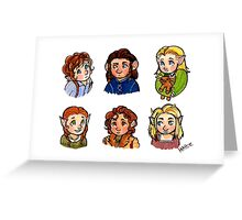 Babies of The Hobbit Greeting Card