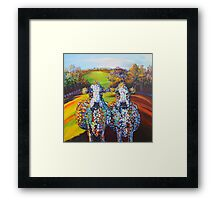 Spot & Dot on the Hill Framed Print