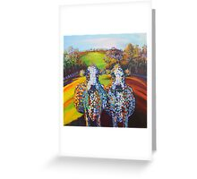 Spot & Dot on the Hill Greeting Card